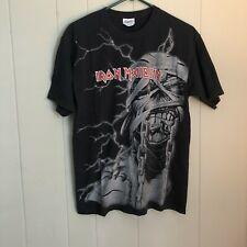 Vintage Iron Maiden All Over Print Shirt Sz M Rare Print