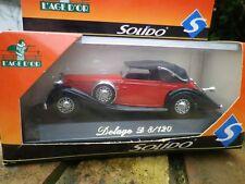 SOLIDO AGE D'OR DELAGE D 8/120 rouge et noire Neuve en boite