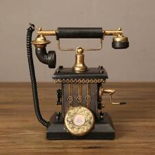 26cm Vintage Telephone Model Ornaments Living Room Office Crafts Home Decor