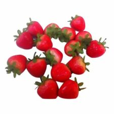20 Artificial Ornament Red Strawberry-Fake Fruit F9J6