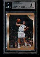 1998-99 Topps Dirk Nowitzki Rookie BGS 9 Mint RC #154 Mavericks