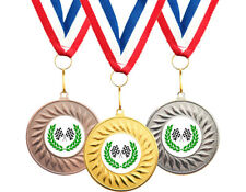 10 x Motorsport, Go Kart, Racing Winner Medals + Ribbons Free Delivery