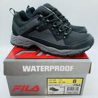 Fila Men's Switchback 2 Waterproof Hiking Shoes Black / Grey US 8