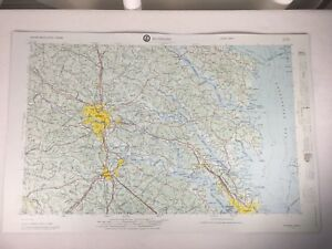 """Richmond Map 3-D Army Corps of Engineers 1969 Topographical 32""""x20.5"""" Plastic"""