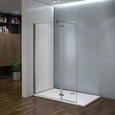 200x90cm Paroi de douche avec paroi à charnière 40cm + 140cm barre de fixation