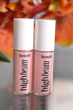 LOT OF 2 Benefit HIGH BEAM Highlighter Enhancer .08 oz 2.5ml Mini Travel NWOB