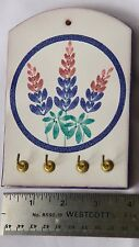 Ceramic flower Wall Plaque 4 Key Hook Rack