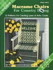 Macrame Chairs For Country Living Liz Miller Patio Lawn Instruction Book NEW