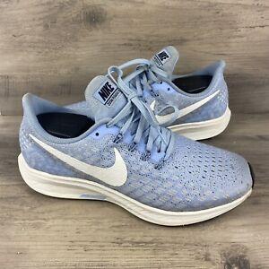 Nike Womens Air Zoom Pegasus 35 942855-405 Sail Blue Running Shoes Size 8