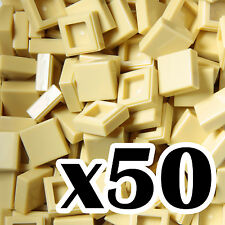 NEW LEGO - TILES - Tan 1x1 - x50 -  1 x 1  smooth flat tile