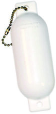 "Hardline Boat Marine Fender Floating Key Chain 5"" L X 1-5/8"" Round White"