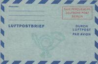 LUFTPOST  FALTBRIEF  -  Mi. Nr:  LF 2 b II  -  in  postfrischer  TOP  Erhaltung.