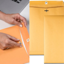 100 Envelopes 9x12 Clasp Yellow Brown Postal Manila Catalog Flaps multi Parties