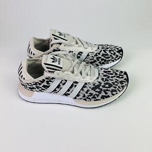 Adidas Women's Original Swift Run X FY2998 Size: 8.5 Leopard Print White Black