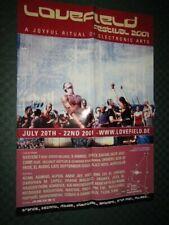 Lovefield Open Air Festival 2001 - Konzertplakat, Promo Poster - 59 x 42 cm