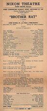 "Eddie Bracken ""BROTHER RAT"" Gary Merrill / Mary Rolfe 1937 Pittsburgh Broadside"