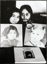 THE BEATLES POSTER PAGE . JOHN LENNON PLASTIC ONO BAND WEDDING ALBUM COVERS .E13