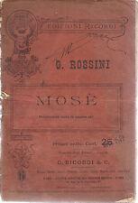 MOSE' - G. ROSSINI # LIBRETTO D'OPERA