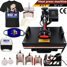8 In 1 Heat Press Machine Transfer Sublimation For T Shirt Mug Plate Printers