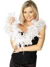 WHITE 20s 1920s FEATHER BOA 150cm 50g Burlesque Fancy Dress Accessories 30865