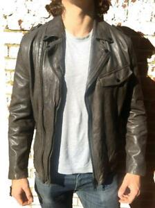 *SLIM FIT* ALL SAINTS AXIS LEATHER BIKER JACKET M RRP £295 $500