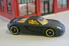 Hot Wheels Porsche Carrera GT - Flat Black w/ Yellow Interior - Loose - 1:64