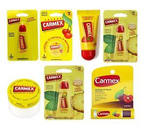 Carmex Lip Balm Flavour Original, Cherry, Mint, Strawberry,Mint, Peach & Mango
