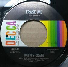 "Ruffty Craig ""Erase Me"" 1966 Decca Popcorn Oldies Pop Soul Ballad mp3"