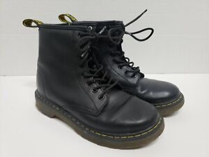 Dr. Martens Delaney Boots Girls Black Size US 1 Youth EU 32 UK 13 Zipper Side