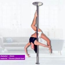 45mm Portable Stripper Dance Pole Dancing Spin Dancer Fitness Static Silver