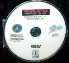MICHAEL JACKSON SHE'S OUT OF MY LIFE OFFICIAL Promo Music Video DVD (NOT a CD)