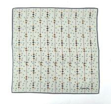 Christian Dior Bandana Pocket Square Mini Scarf Handkerchief Neckerchief Grey