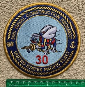 30th Naval Construction Regiment United States Pacific Fleet US Military Patch
