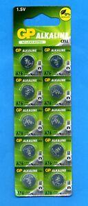 10 x AG13 A76 V13GA LR44 SR44 1.5V GP Alkaline Batteries Cells