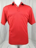 Nike Mens Golf Shirt Large Polo Short Sleeve Dri Fit Red