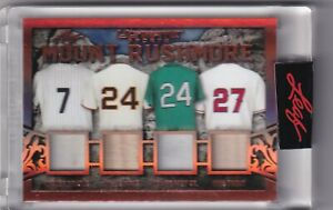 2021 LEAF ULTIMATE SPORTS MOUNT RUSHMORE MANTLE MAYS GRIFFEY JR TROUT 11/12