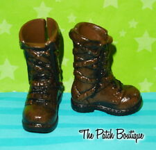 EVER AFTER HIGH HUNTER HUNTSMAN BOY DOLL REPLACEMENT BROWN BOOTS SHOES  PAIR #2
