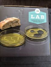 Jay Lab Scientific Petri Dishes (2) Dipping Bowls (Sauce, Oil)