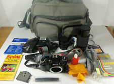 Ricoh KR-30sp Program Camera With 2 Lenses, Flash & Camera Bag w/Add on's Tested