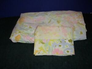 Pastel Floral Sheet Twin Size - Fitted &Matching  Pillow Case