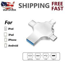 4 in 1 USB 3.0 Flash Drive Memory Stick for iPhone Lightning iPad Type C 512GB