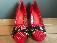 Poetic License/ Irregular Choice Bow Tied Red