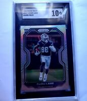 CeeDee Lamb 2020 Panini Prizm Silver Rookie card #334 SGC 10 Dallas Cowboys NFL