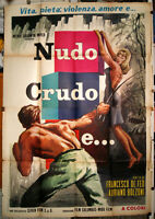 documentario mondo movie NUDO CRUDO E.. manifesto 4F originale 1964 SEXPLOTATION