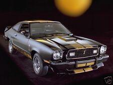 1976 Ford MUSTANG II COBRA, BLACK, Refrigerator Magnet, 40 MIL