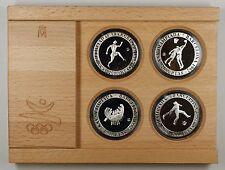 1990 Spain 2000 PTAS Barcelona 1992 Olympic Silver Proof 4 Coin Set- w/COA- #1
