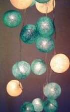 LED Fairy Lights Blue Moon Cotton Balls Design Mains Plug Power 3M 20 Lights