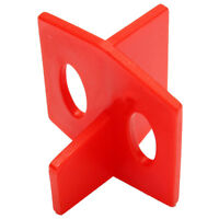 50pcs 2mm 3 Side Tile Spacer - Cross And Wall Floor, Red Single 3.5 * 2.8cm L3G1