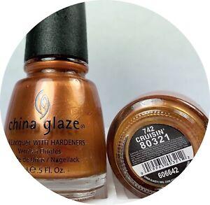 China Glaze Nail Polish Cruising Cruisin' 742 Golden Copper Shimmer Lacquer