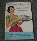 vintage 1950s GE food freezer manual booklet General Electric freezer  photo